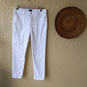 Nydj anklestretch white jeans